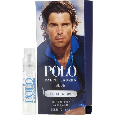 Polo Blue By Ralph Lauren Eau De Parfum Spray Vial On Card - AuFreshScents.Com