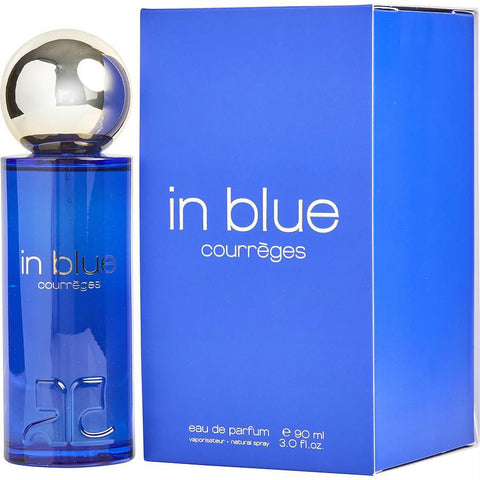 Courreges In Blue By Courreges Eau De Parfum Spray 3 Oz - AuFreshScents.Com