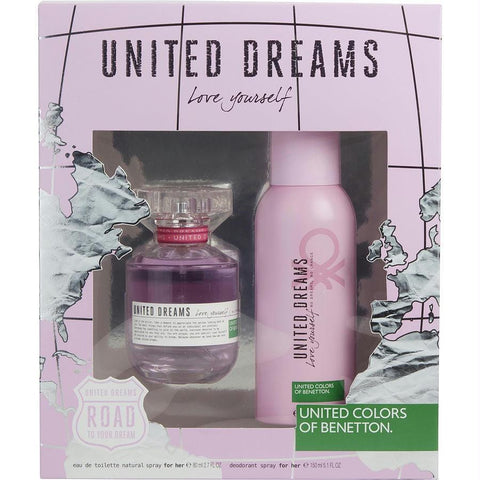 Benetton Gift Set Benetton United Dreams Love Yourself By Benetton - AuFreshScents.Com