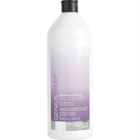 Genius Wash Cleansing Conditioner For Course Hair 33.8 Oz - AuFreshScents.Com