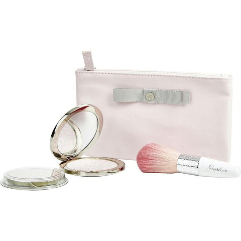 Guerlain Meteorites Voyage (exceptional Compacted Pearls Of Powder Refillable # 01 Mythic & Refill & Brush & Pouch)--4pcs By Guerlain - AuFreshScents.Com