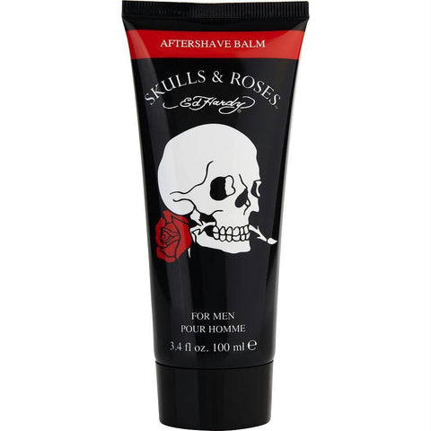 Ed Hardy Skulls & Roses By Christian Audigier Aftershave Balm 3.4 Oz - AuFreshScents.Com