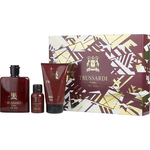 Trussardi Gift Set Trussardi Uomo The Red By Trussardi - AuFreshScents.Com