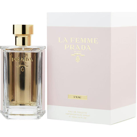 Prada La Femme L'eau By Prada Edt Spray 3.4 Oz - AuFreshScents.Com