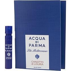Acqua Di Parma Blue Mediterraneo By Acqua Di Parma Chinotto Di Liguria Edt Spray Vial On Card