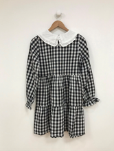 Load image into Gallery viewer, Gingham Mini Dress With Peter Pan Collar