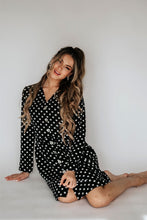 Load image into Gallery viewer, Abby Loose Button Front Loose Fit Polka Dress