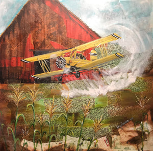 Crop Duster Original Artwork