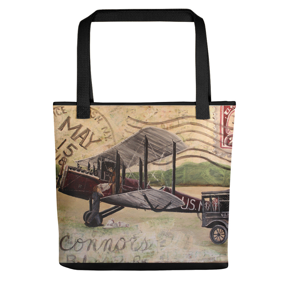 1918 Air Mail (w/black border) Tote bag
