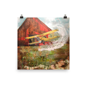 Crop Duster Luster Paper Print