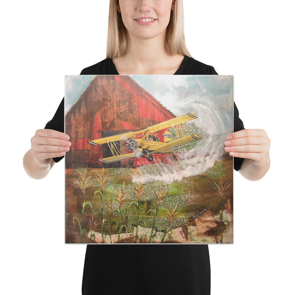 Crop Duster 16 x 16 Canvas