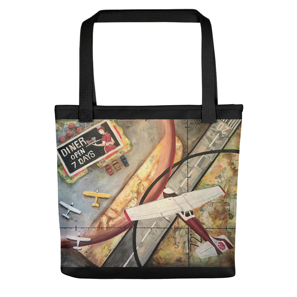 Hundred Dollar Hamburger (w/black border) Tote bag