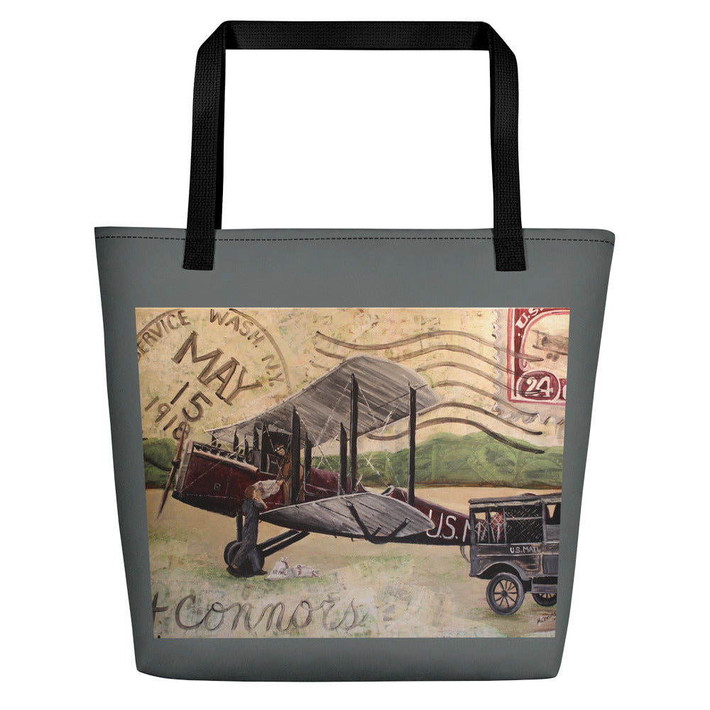 1918 Air Mail Beach Bag