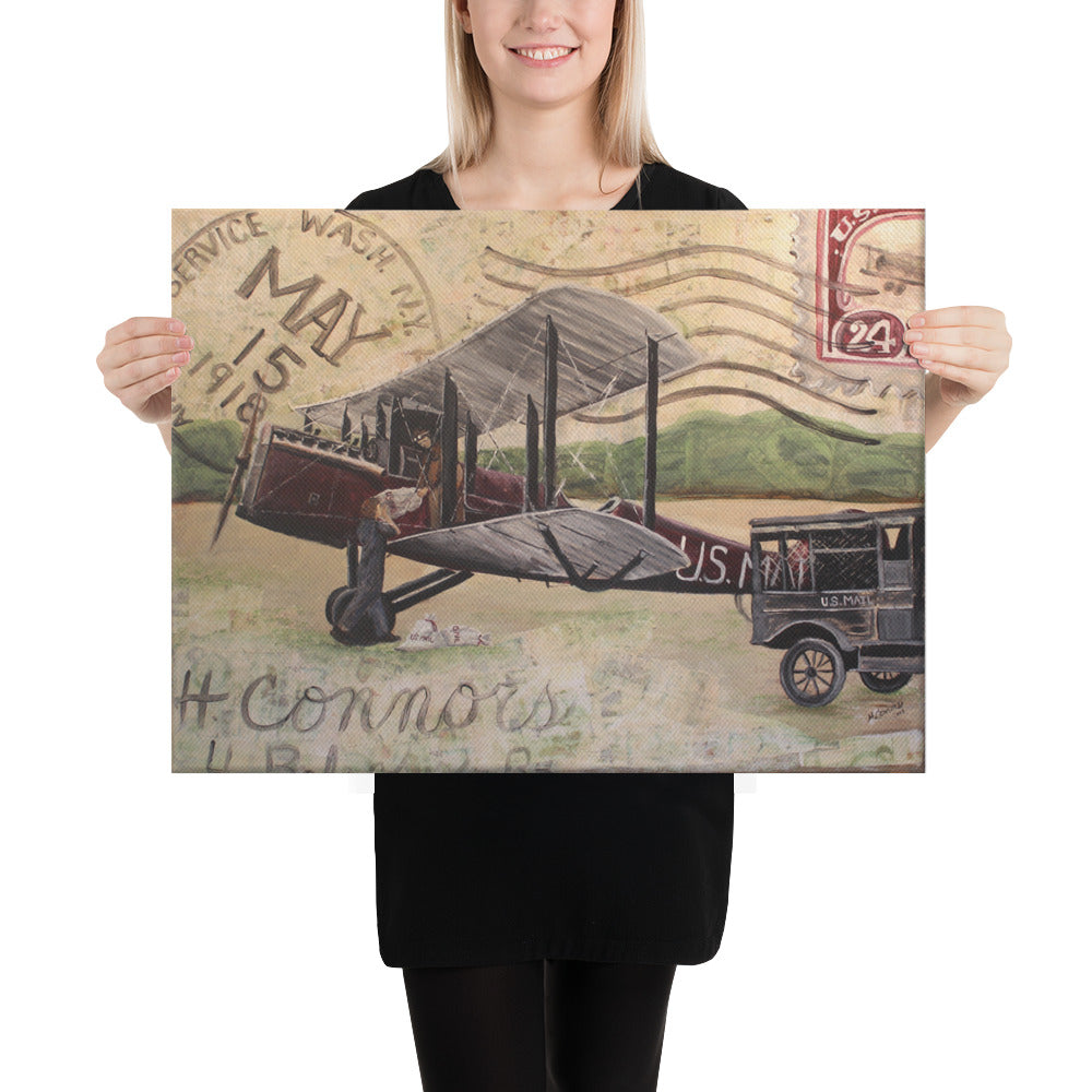 1918 Air Mail 18 x 24 Canvas