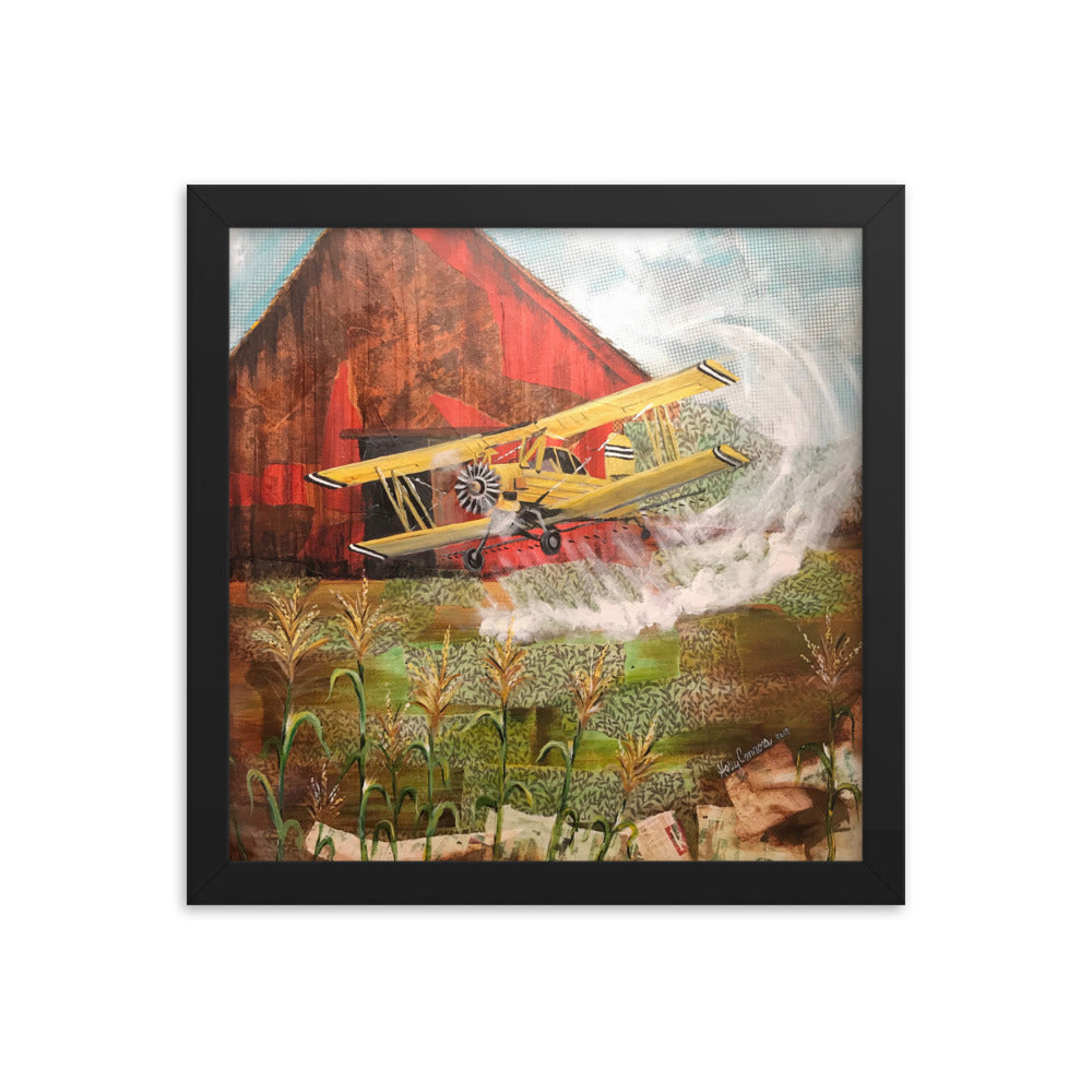 Crop Duster Framed poster