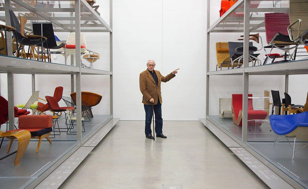 Dieter Rams photographed by Gary Hustwit at the Vitra Design Museum near Basel