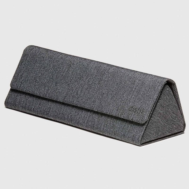 distil origami glasses hard case in grey on a white backdrop