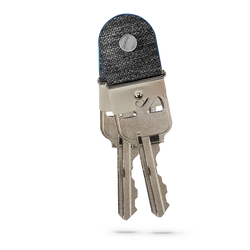 two attached keymod clicks with blue lining holding keys on a white backdrop