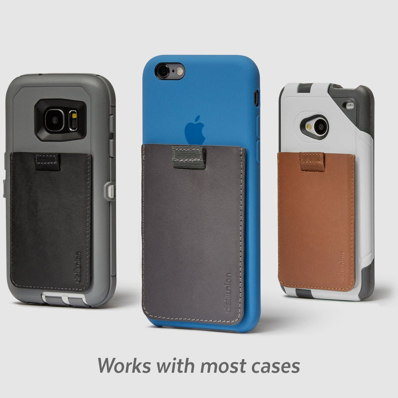 distil wally junior stick-on attached to various phone model cases including iphone, samsung, and others