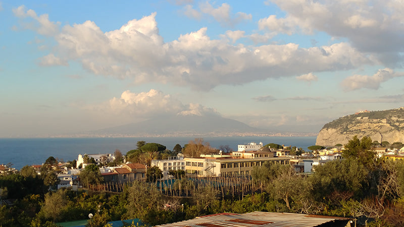 Sorrento with Mount Vesuvious in the background