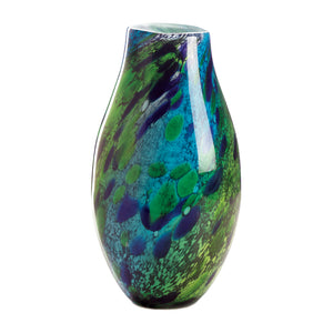 Peacock Inspired Glass Vase - Lasting Impressions Shop