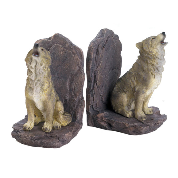 Howling Wolf Bookends - Lasting Impressions Shop