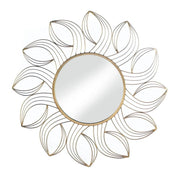Wall Mirror Framed With Golden Petals - Lasting Impressions Shop