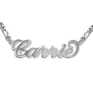 Unforgettable Custom Double Thick Sterling Silver Name Pendant - Lasting Impressions Shop