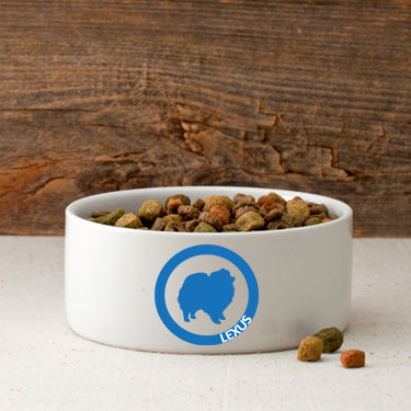 Circle of Love Silhouette Small Dog Bowl - Lasting Impressions Shop