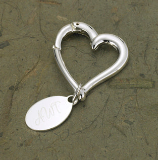 Heart Key Chain with Oval Tag - Lasting Impressions Shop
