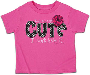 God Made Me Cute - Childrens Christian Shirt - Lasting Impressions Shop
