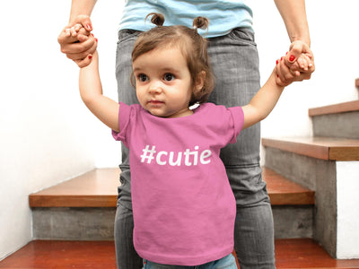#Cutie Hashtag Toddler T-Shirt - Lasting Impressions Shop