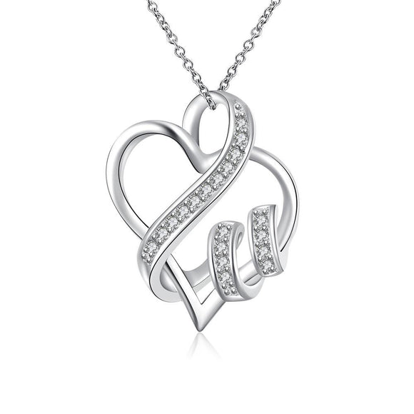 Swarovski Crystal I LOVE YOU Necklace - Lasting Impressions Shop