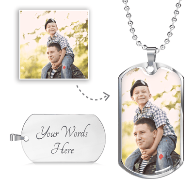 Unforgettable Dog Tag Necklace - Lasting Impressions Shop
