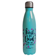 Trust In The Lord With All Your Heart - Stainless Water Bottle - Lasting Impressions Shop