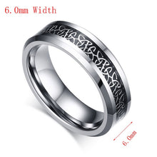 Load image into Gallery viewer, Vnox 100% Tungsten Metal Men's Ring Christian Trinitas Trinity Design 6mm/8mm Width Male Jewelry