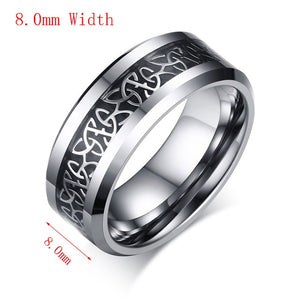 Vnox 100% Tungsten Metal Men's Ring Christian Trinitas Trinity Design 6mm/8mm Width Male Jewelry