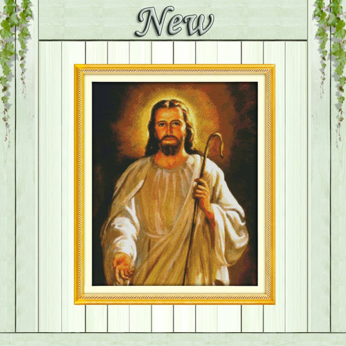 Jesus Christian faith diy painting home Decor pattern print on canvas DMC 11CT 14CT kits Cross Stitch embroidery needlework Sets