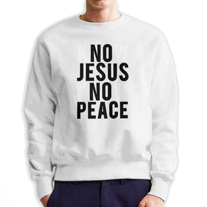 Know Jesus Know Peace Christian Sweatshirt Men's Creative Pure Cotton Crew Neck Pullover Brand Hoodies Apparel