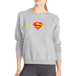 Super Jesus Christ women sweatshirt 2019 autumn winter style cotton slim elegant casual woman hoodies gift for Christian S-2XL