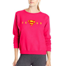 Load image into Gallery viewer, Super Jesus Christ women sweatshirt 2019 autumn winter style cotton slim elegant casual woman hoodies gift for Christian S-2XL