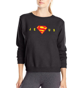 gift for Christian Super Jesus Christ women sweatshirt 2019 spring winter new fleece slim fit warm hoodies casual tracksuit
