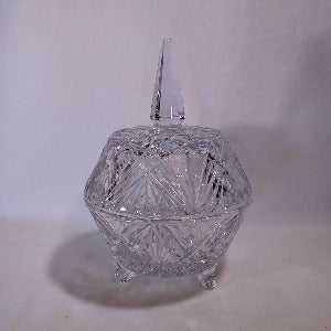 Cut Crystal Candy Dish