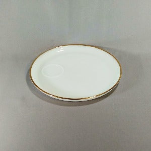Anchor Hocking Snack Plates with Gold Rim, Golden Veil