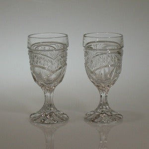 Crystal Liqueur Glasses, Set of 2