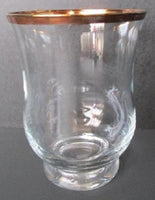 Crystal Hurricane Vase/Candle Holder   Made in Poland