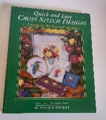 Quick and Easy Cross Stitch Designs Inspired by Your Garden  by Anne and Michael Lane  Hardcover  Craft Book