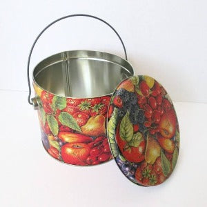 Decorative Fruit Tin