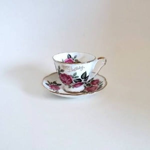 Princess Anne Fine Bone China Cup and Saucer