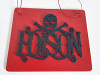 Poison Halloween Plaque  Festive Wooden Decor